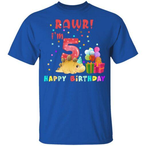 Kids 5 Year Old 2016 Birthday Boys Dinosaur 5th Birthday T-shirt 5 of Sapelle