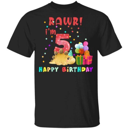 Kids 5 Year Old 2016 Birthday Boys Dinosaur 5th Birthday T-shirt 1 of Sapelle