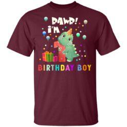 Kids 1 Year Old 2020 Birthday Boys Dinosaur 1st Birthday T-shirt 6 of Sapelle