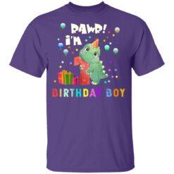 Kids 1 Year Old 2020 Birthday Boys Dinosaur 1st Birthday T-shirt 10 of Sapelle