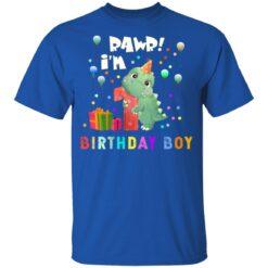 Kids 1 Year Old 2020 Birthday Boys Dinosaur 1st Birthday T-shirt 12 of Sapelle
