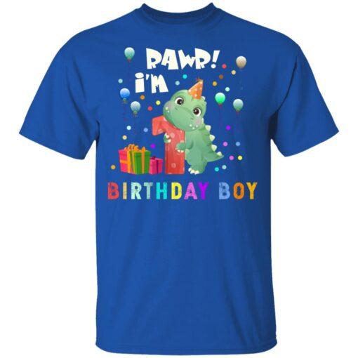Kids 1 Year Old 2020 Birthday Boys Dinosaur 1st Birthday T-shirt 5 of Sapelle