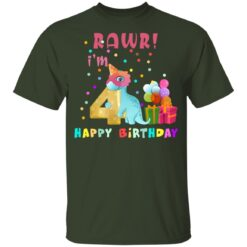 Kids 4 Year Old 2017 Birthday Boys Dinosaur 4th Birthday T-shirt 6 of Sapelle