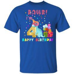 Kids 4 Year Old 2017 Birthday Boys Dinosaur 4th Birthday T-shirt 12 of Sapelle