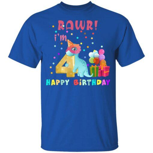Kids 4 Year Old 2017 Birthday Boys Dinosaur 4th Birthday T-shirt 5 of Sapelle