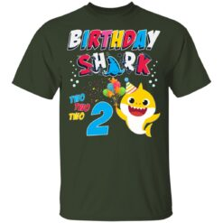 2nd Birthday Baby Cute Shark Birthday Boys Girls 2 Year Old T-shirt 6 of Sapelle
