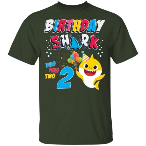 2nd Birthday Baby Cute Shark Birthday Boys Girls 2 Year Old T-shirt 2 of Sapelle