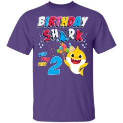 2nd Birthday Baby Cute Shark Birthday Boys Girls 2 Year Old T-shirt 10 of Sapelle