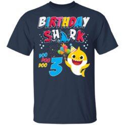 3rd Birthday Baby Cute Shark Birthday Boys Girls 3 Years Old T-shirt 8 of Sapelle