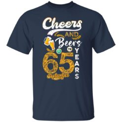 September 1956 65 Years Old Cheers Beer To My 65th Birthday T-Shirt 18 of Sapelle