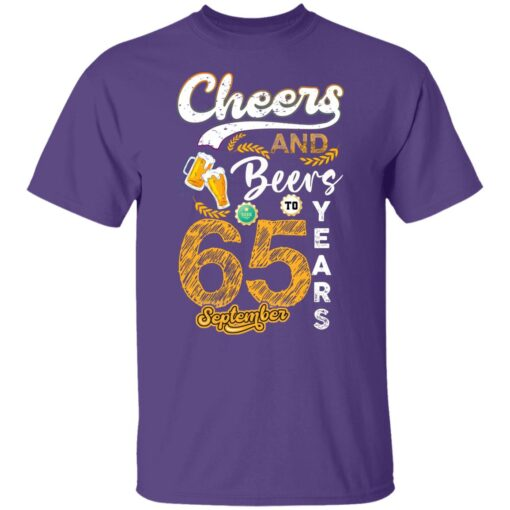 September 1956 65 Years Old Cheers Beer To My 65th Birthday T-Shirt 4 of Sapelle