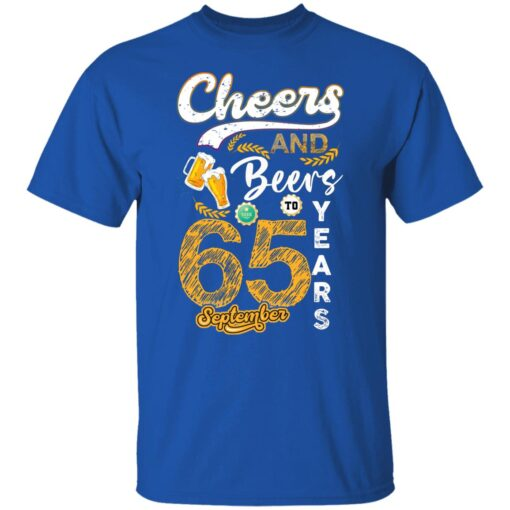 September 1956 65 Years Old Cheers Beer To My 65th Birthday T-Shirt 5 of Sapelle