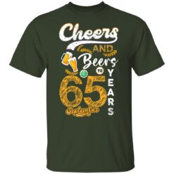 September 1956 65 Years Old Cheers Beer To My 65th Birthday T-Shirt 26 of Sapelle