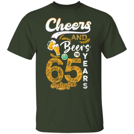 September 1956 65 Years Old Cheers Beer To My 65th Birthday T-Shirt 7 of Sapelle