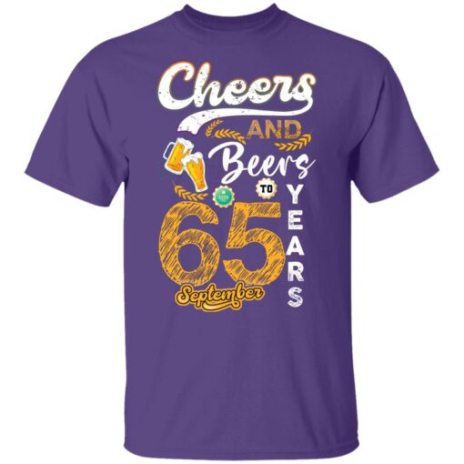September 1956 65 Years Old Cheers Beer To My 65th Birthday T-Shirt 9 of Sapelle