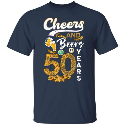 September 1971 50 Years Old Cheers Beer To My 50th Birthday T-Shirt 2 of Sapelle