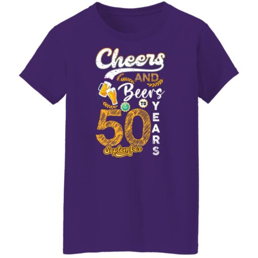 September 1971 50 Years Old Cheers Beer To My 50th Birthday T-Shirt 13 of Sapelle