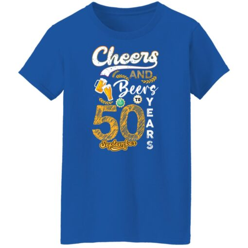 September 1971 50 Years Old Cheers Beer To My 50th Birthday T-Shirt 14 of Sapelle