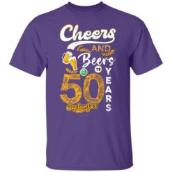September 1971 50 Years Old Cheers Beer To My 50th Birthday T-Shirt 17 of Sapelle