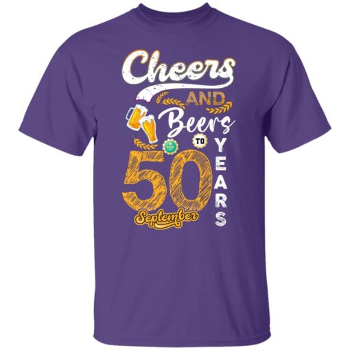 September 1971 50 Years Old Cheers Beer To My 50th Birthday T-Shirt 3 of Sapelle