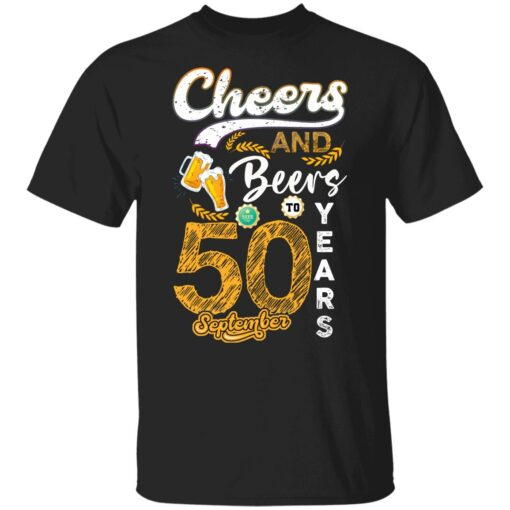 September 1971 50 Years Old Cheers Beer To My 50th Birthday T-Shirt 5 of Sapelle
