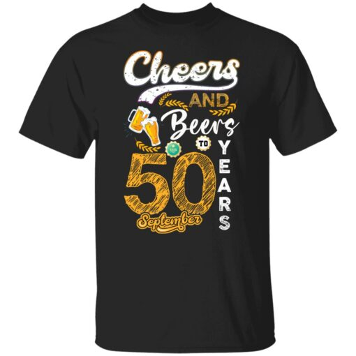 September 1971 50 Years Old Cheers Beer To My 50th Birthday T-Shirt 1 of Sapelle