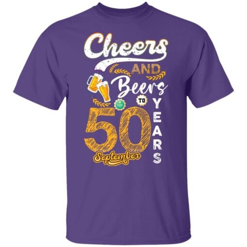 September 1971 50 Years Old Cheers Beer To My 50th Birthday T-Shirt 8 of Sapelle