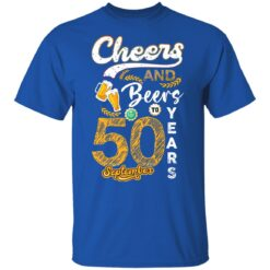 September 1971 50 Years Old Cheers Beer To My 50th Birthday T-Shirt 29 of Sapelle