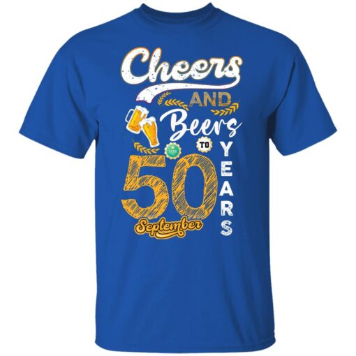September 1971 50 Years Old Cheers Beer To My 50th Birthday T-Shirt 9 of Sapelle