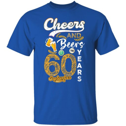 September 1961 60 Years Old Cheers Beer To My 60th Birthday T-Shirt 5 of Sapelle