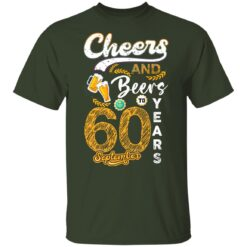 September 1961 60 Years Old Cheers Beer To My 60th Birthday T-Shirt 26 of Sapelle