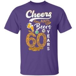 September 1961 60 Years Old Cheers Beer To My 60th Birthday T-Shirt 30 of Sapelle