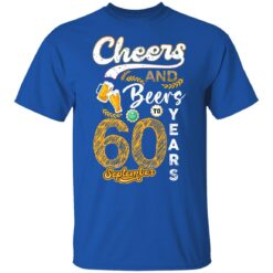 September 1961 60 Years Old Cheers Beer To My 60th Birthday T-Shirt 32 of Sapelle