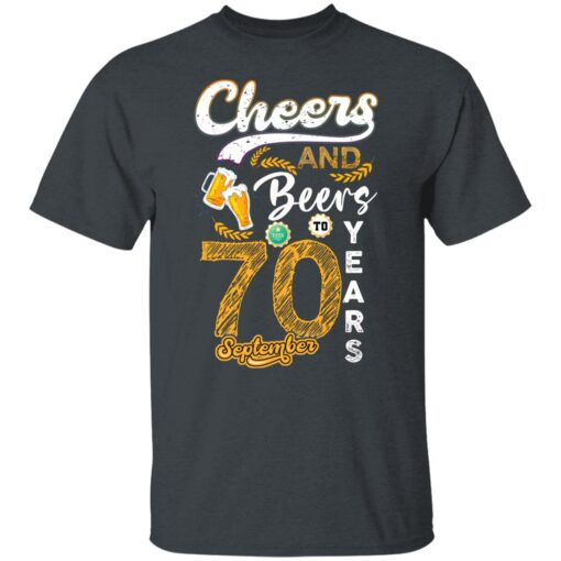 September 1951 70 Years Old Cheers Beer To My 70th Birthday T-Shirt 2 of Sapelle