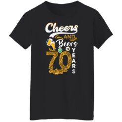 September 1951 70 Years Old Cheers Beer To My 70th Birthday T-Shirt 34 of Sapelle