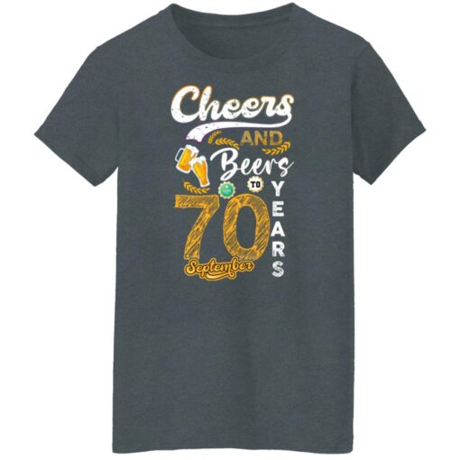 September 1951 70 Years Old Cheers Beer To My 70th Birthday T-Shirt 12 of Sapelle
