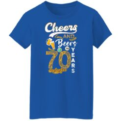 September 1951 70 Years Old Cheers Beer To My 70th Birthday T-Shirt 42 of Sapelle