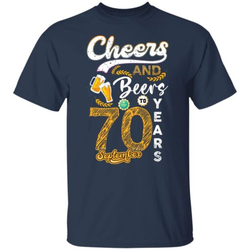 September 1951 70 Years Old Cheers Beer To My 70th Birthday T-Shirt 3 of Sapelle