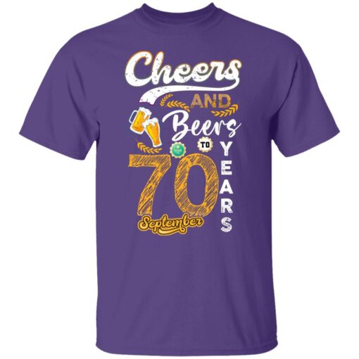 September 1951 70 Years Old Cheers Beer To My 70th Birthday T-Shirt 4 of Sapelle