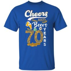 September 1951 70 Years Old Cheers Beer To My 70th Birthday T-Shirt 22 of Sapelle