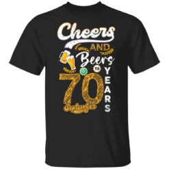 September 1951 70 Years Old Cheers Beer To My 70th Birthday T-Shirt 24 of Sapelle