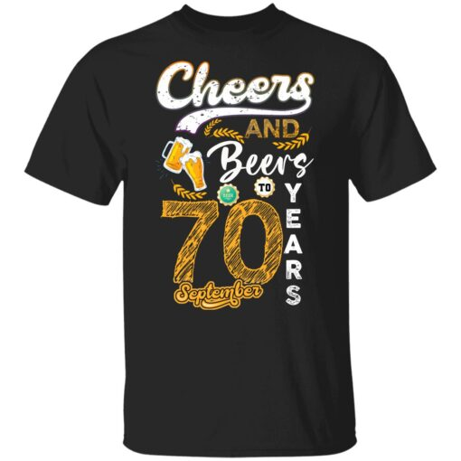 September 1951 70 Years Old Cheers Beer To My 70th Birthday T-Shirt 6 of Sapelle
