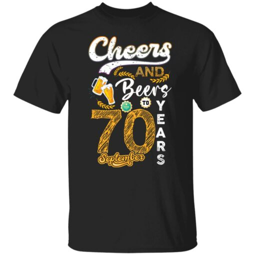 September 1951 70 Years Old Cheers Beer To My 70th Birthday T-Shirt 1 of Sapelle