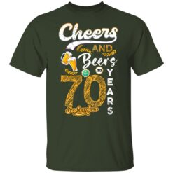 September 1951 70 Years Old Cheers Beer To My 70th Birthday T-Shirt 26 of Sapelle