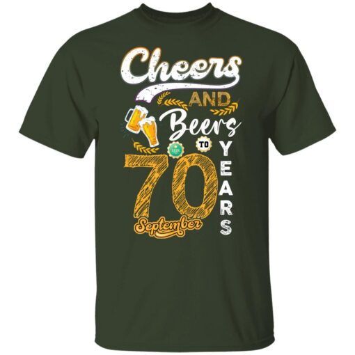 September 1951 70 Years Old Cheers Beer To My 70th Birthday T-Shirt 7 of Sapelle