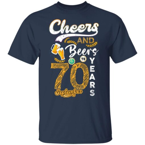 September 1951 70 Years Old Cheers Beer To My 70th Birthday T-Shirt 8 of Sapelle
