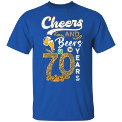 September 1951 70 Years Old Cheers Beer To My 70th Birthday T-Shirt 32 of Sapelle
