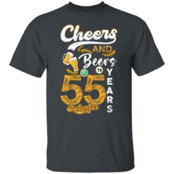 September 1966 55 Years Old Cheers Beer To My 55th Birthday T-Shirt 15 of Sapelle