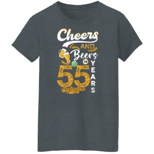 September 1966 55 Years Old Cheers Beer To My 55th Birthday T-Shirt 11 of Sapelle