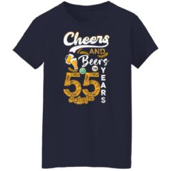 September 1966 55 Years Old Cheers Beer To My 55th Birthday T-Shirt 35 of Sapelle